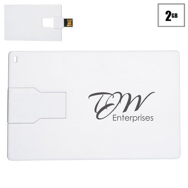 Slim Credit Card Flash Drive, 2GB