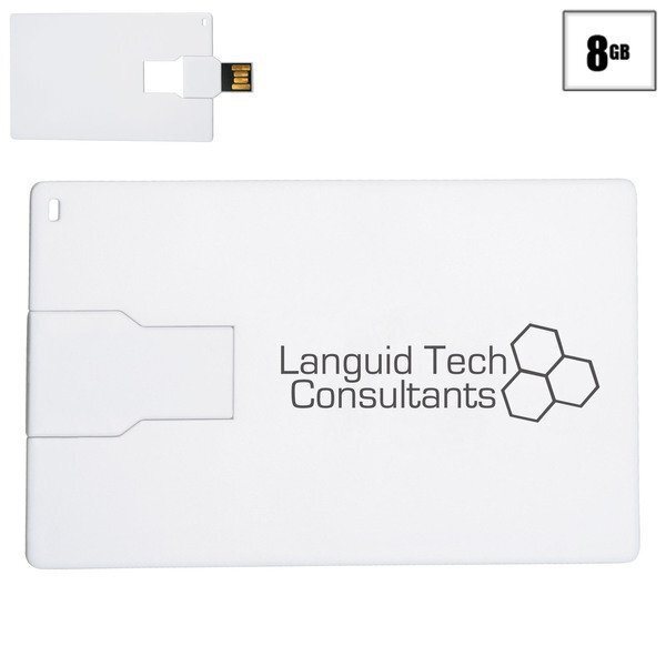 Slim Credit Card Flash Drive, 8GB