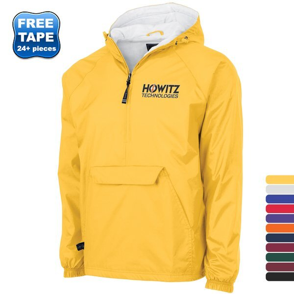 Charles River® Solid Rain & Wind Resistant Unisex Pullover