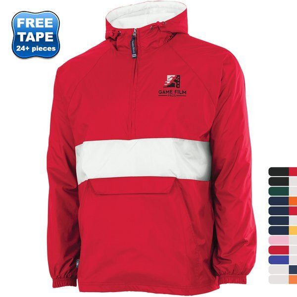 Charles River® Striped Rain & Wind Resistant Unisex Pullover