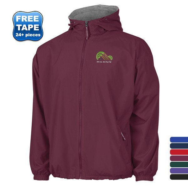 Charles River® Portsmouth Unisex Jersey Lined Rain Jacket
