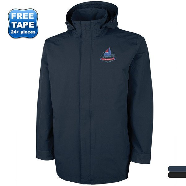 Charles River® Logan Men's Lined Rain Jacket