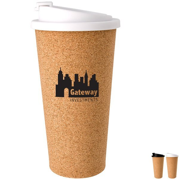 Cork Flip-Top Lid Tumbler, 16oz.