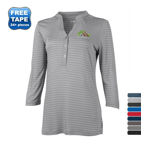 Charles River® Windsor Ladies' Jersey Knit Henley