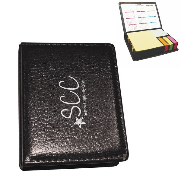 Deluxe Leatherette Sticky Note & Flag Organizer
