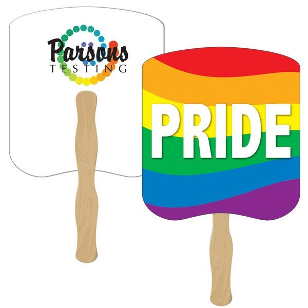 Rainbow Pride Hand Fan, Full Color