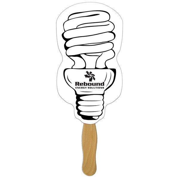 CFL Light Bulb Hand Fan