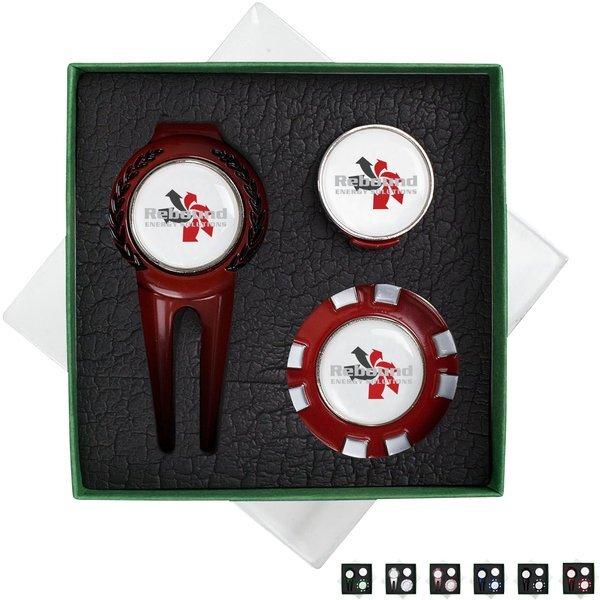 Poker Chip 3 Piece Golf Gift Set