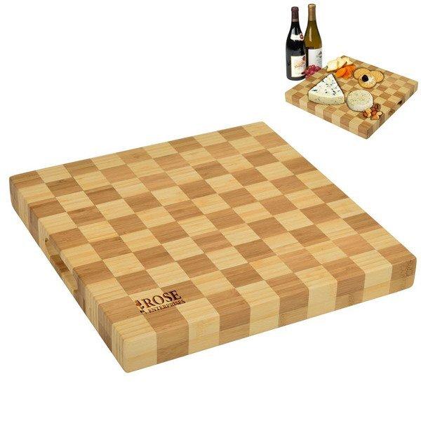 Checkered Bamboo Chop Board