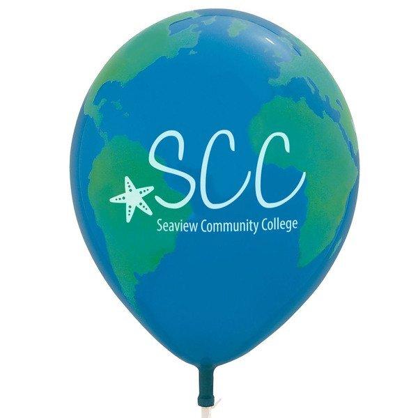 "Round Globe Balloon, 11"""