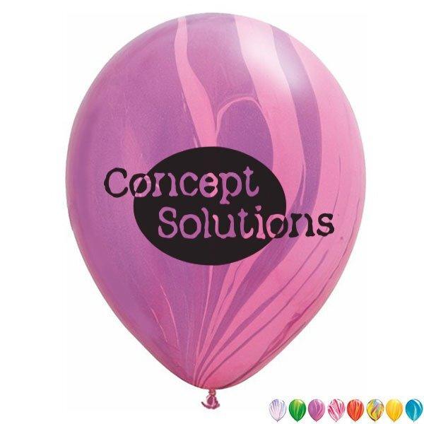 "Round SuperAgate Latex Balloon, 11"""