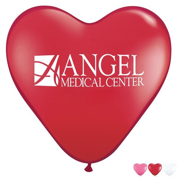 "Heart Shaped Jewel & Fashion Colored Latex Balloons, 15"""