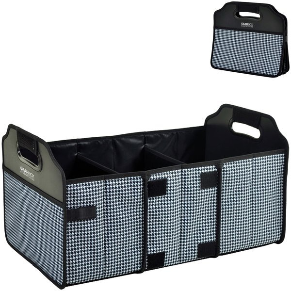 Collapsible Polycanvas Trunk Organizer - Houndstooth