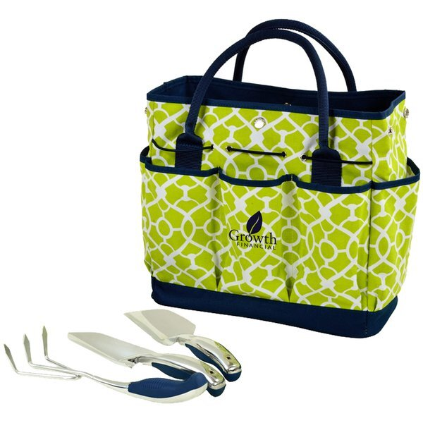 Garden Tote & Tools Set - Trellis Green