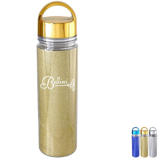 Metallic Arch Glitter Water Bottle, 18oz.