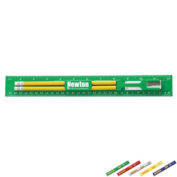 """Four-in-One Ruler Stationery Kit, 12"""""""