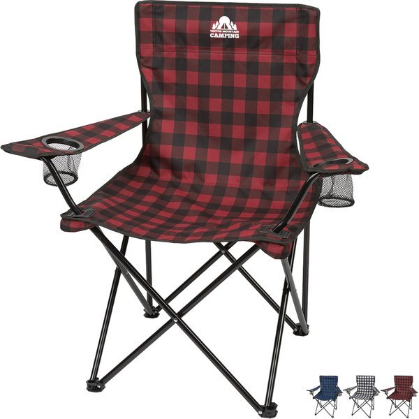 Northwoods Polyester Plaid Folding Chair