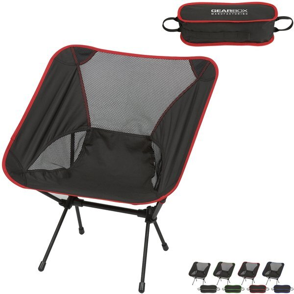 Outdoorable Polyester & Mesh Folding Chair w/ Travel Bag