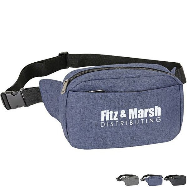 Heathered 3-Zipper Fanny Waist Pack