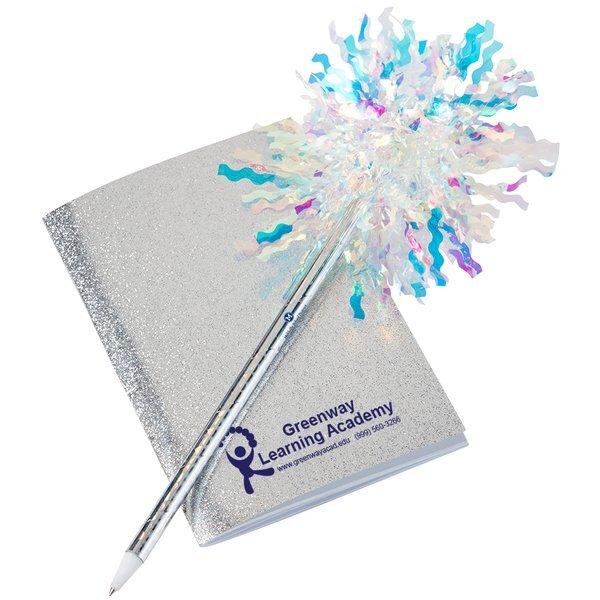 Glitter Mini Note Book w/ Sparkle Pen