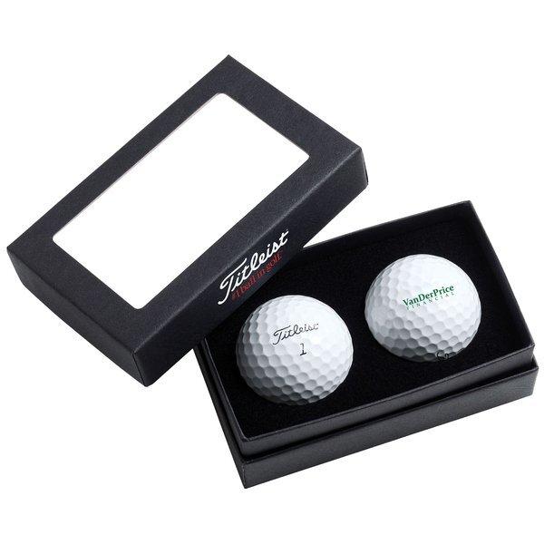 Titleist® 2-Ball Business Card Box with DT TruSoft Golf Balls