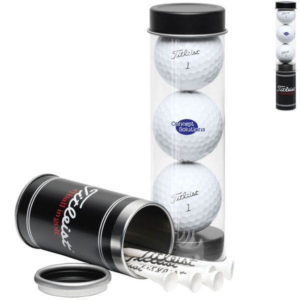 Titleist® 3-Ball Tee Tube with DT TruSoft™ Golf Balls