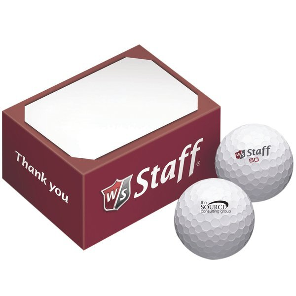 Wilson® Staff 2-Ball Business Card Box
