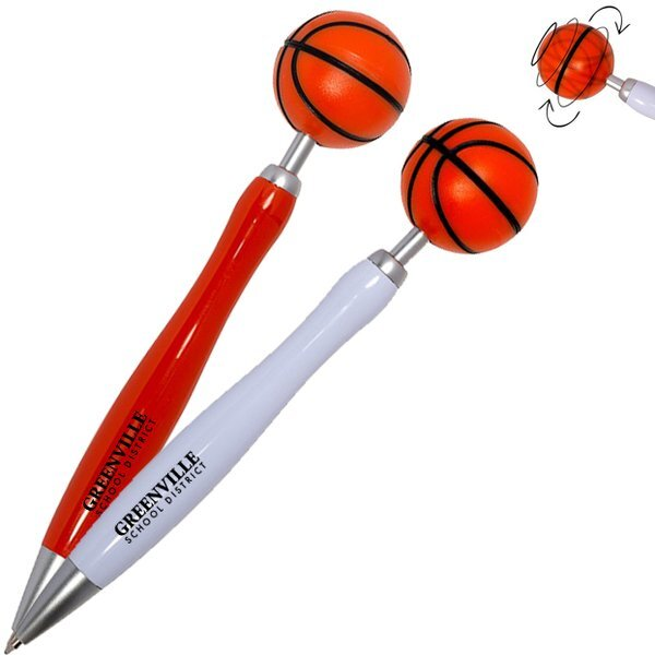 Basketball Spinner Ball Click-Action Pen