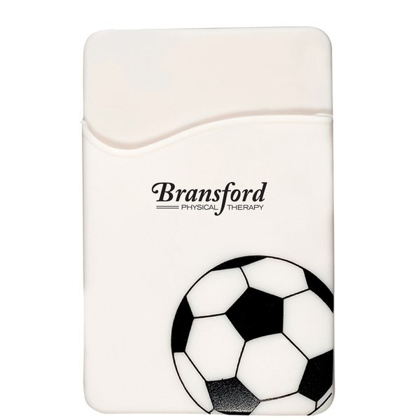Sport-Themed Silicone Phone Pocket - Soccer