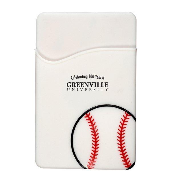 Sport-Themed Silicone Phone Pocket - Baseball