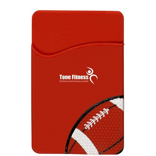 Sport-Themed Silicone Phone Pocket - Football