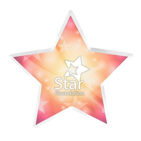 Star Acrylic Award, Full Color
