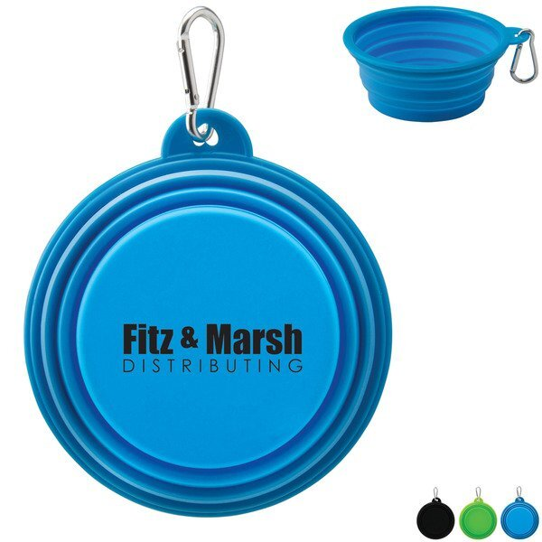 Collapsible Silicone Pet Bowl w/ Carabiner