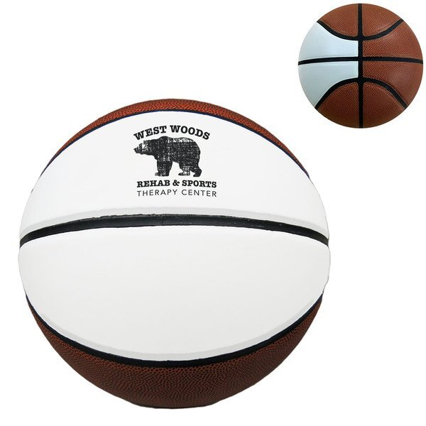 Baden® Official Size Synthetic 2-Panel Autograph Basketball, Size 7
