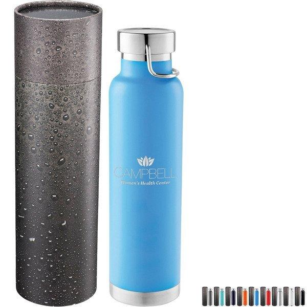 Thor Copper Vac Bottle w/Cylindrical Box, 22 oz.