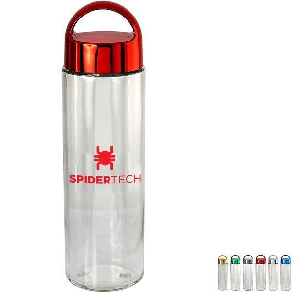 Metallic Arch Glass Bottle, 22 oz.