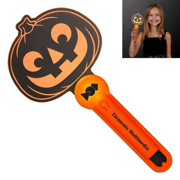Halloween Pumpkin Light Up Acrylic Wand