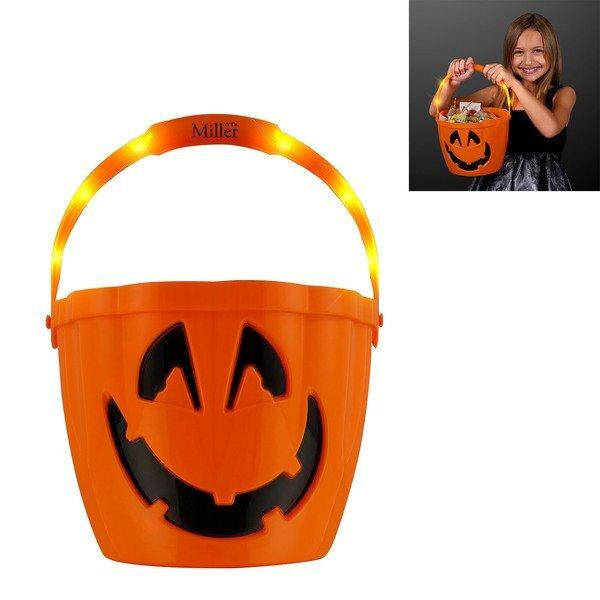 Light Up LED Halloween Trick-or-Treat Bucket