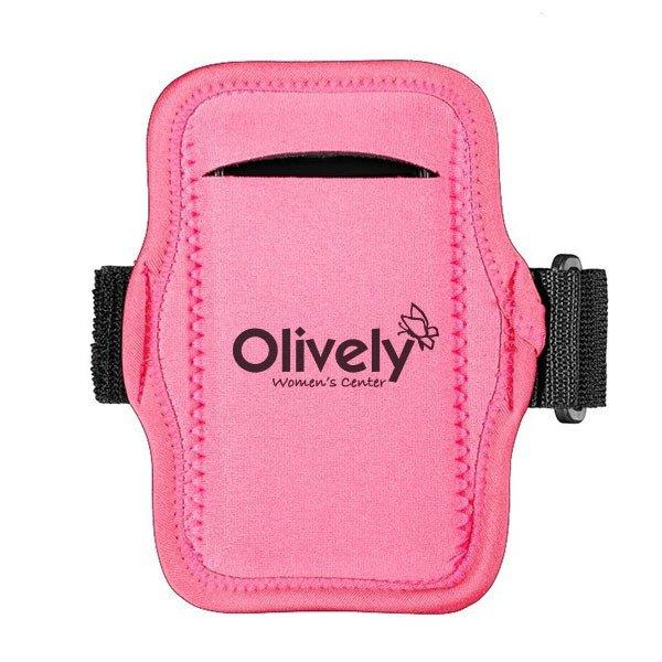 JogStrap Pink Neoprene Phone Holder Armband