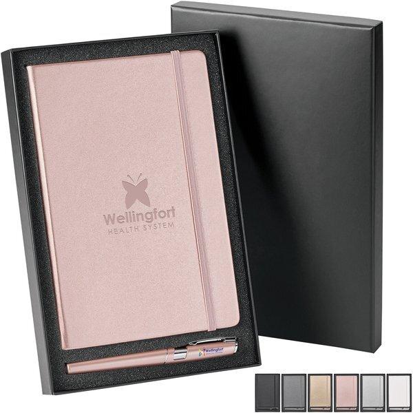 Neoskin® Hard Cover Journal & Ballpoint Pen Gift Set