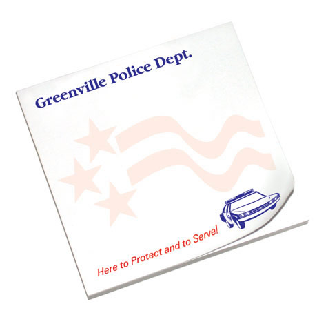 Protect and Serve, 25 Sheet Sticky Pad