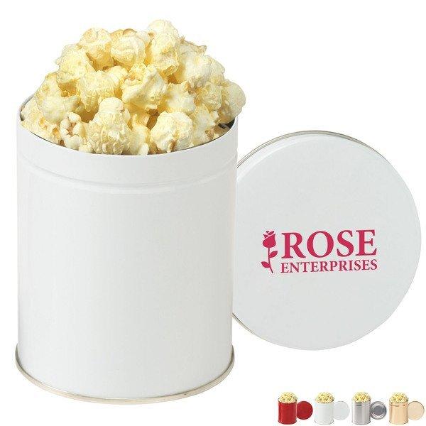 Gourmet White Cheddar Truffle Popcorn Tin, Quart