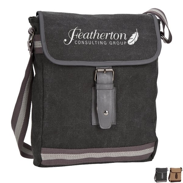 Arlington Cotton Canvas Mini Messenger Tablet Bag