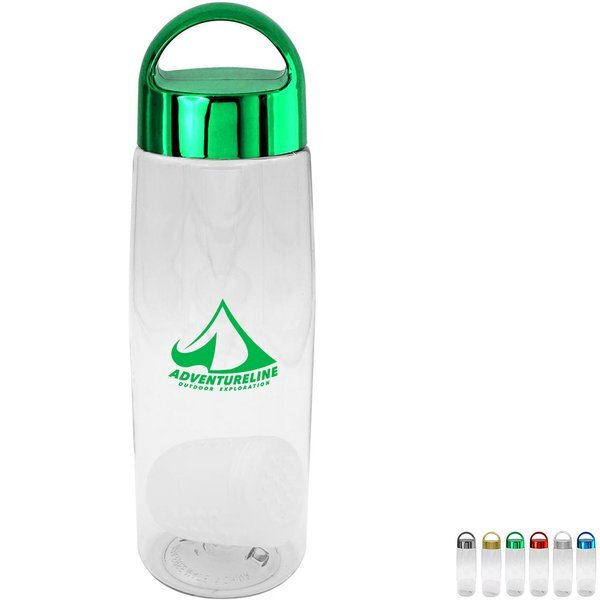 Metallic Arch Clear Contour Bottle w/Floating Infuser, 25 oz.