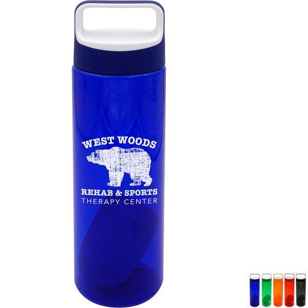 Boxy Colorful Bottle w/Floating Infuser, 24 oz.