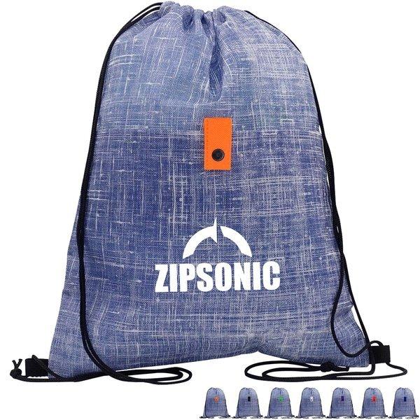 Blue Denim Non-Woven Cinchpack