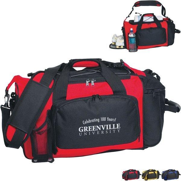 "Deluxe Polyester Sport Duffel Bag, 21"""
