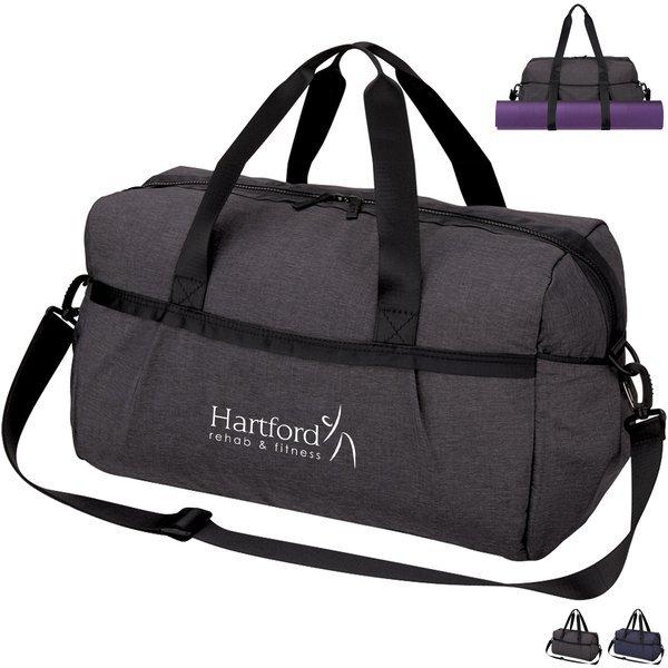 "Performance Polyester Gym Duffel Bag, 18"""