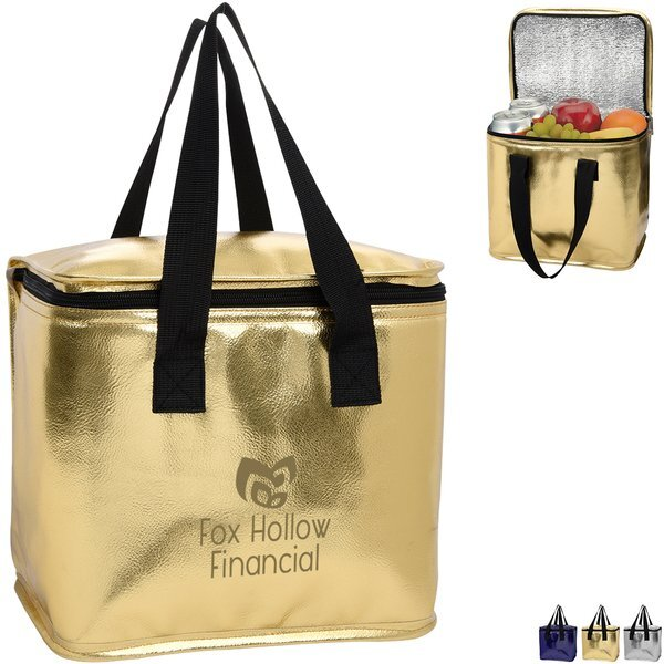 Major Metallic PVC Leatherette Cooler Bag