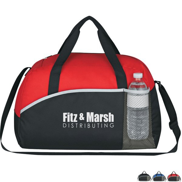 """Executive Suite Polyester Duffel Bag, 18"""""""